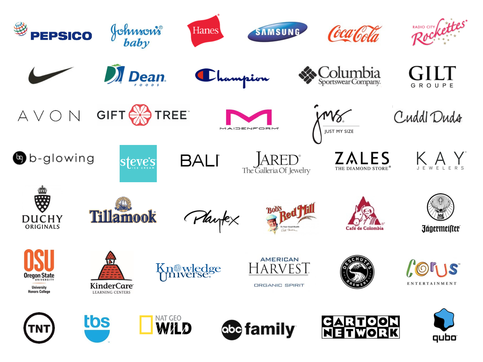 Brands We've Worked With | Big Squirrel